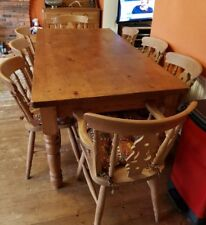 Solid Pine Dining table and chairs.
