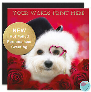 PERSONALISED Bichon Frise Greeting Card any occasion age relation dog lover