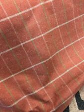 Premium Upholstery Contract Weight Fabric Orange Check