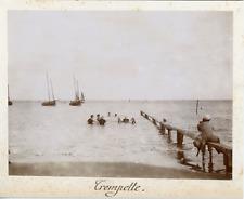 France, Groupe de baigneurs, ca.1895, Vintage citrate print Vintage citrate prin