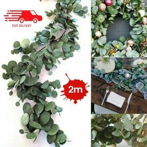 2M Greenery Eucalyptus Leaves Silk Artificial Vine Garland Wedding Decor BZ