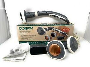 Conair Body Benefits Therapy Massager w/ Heat Model WM30N 4 Attachments Works