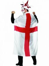 World Cup 2018 England Flag Body Cape Football Adult Size St George Cross