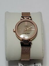 Anne Klein Women's Genuine Diamond Dial Mesh Watch, AK/3034BHRG