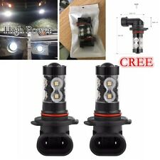 50W Bright CREE LED Chips Daytime Running Fog Lights Bulbs 2 pcs (H10 9145) -NEW