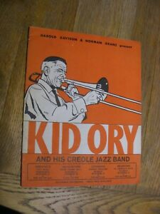 KID ORY AND HIS CREOLE JAZZ BAND - 1959 Concert Programme, Manchester.