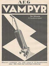 J1141 AEG VAMPYR der fuhrende staubsauger - Pubblicità grande formato - 1927 Ad