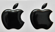 2 X 3D abovedado adhesivos con el logotipo de Apple para iPhone, iPad Cubierta. tamaño 35x30mm