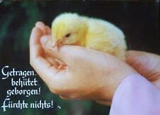 Postkarte: Klappkarte ideal zu Ostern -Getragen,behütet,geborgen! Fürchte nichts