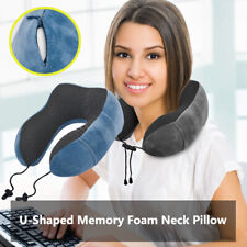 U-Shaped Memory Foam Neck Pillow Travel Airplane Neck Support Cervical Care