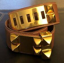 "Hermes ""Collier de Chien"" Belt in Brown Togo Leather"