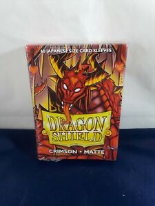 ARCANE TINMEN - Dragon Shield Japanese Card Sleeves Matte Crimson - 60 Sleeves