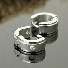 Pair Fashion Hoop Crystal Earring Titanium steel Earrings Anti Allergy X186E