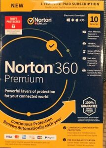 Norton 360 Premium for 10 Devices and 12 Months