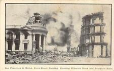 SAN FRANCISCO CALIFORNIA EARTHQUAKE JONES STREET BURNING POSTCARD 1906