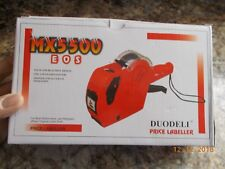 New In Box Duodeli Mx5500 Eos Price Labeler With 1 Roll Labels 1 Ink Roll