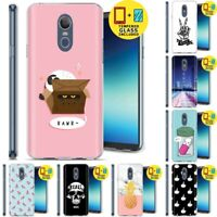 Gel Design Protective Phone Case Cover LG Stylo 4,Cat Box Print,Tempered Glass