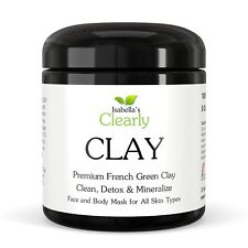 Isabella's Clearly CLAY - Premium Green Clay Face & Body Mask (8 Oz)