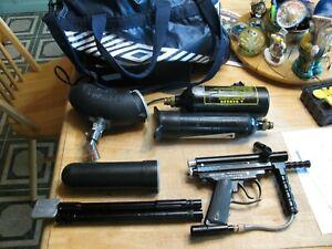 Spyder TL Semi-Auto Caliber 68 Paintball Gun with accessories