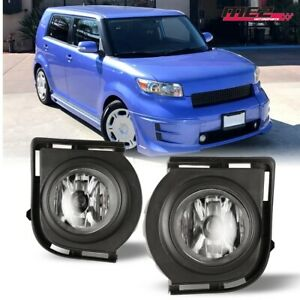 For 08-10 Scion xB PAIR OE Direct Factory Fit Fog Light Bumper Kit Clear Lens