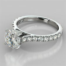 2.32 Ct Solitaire Diamond Engagement Proposal Ring Hallmarked Real Gold Wedding
