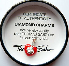 NEW Genuine Authentic THOMAS SABO - RED HEART + Diamond Clover  - RRP$119.00