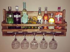 Bespoke medium handmade unique floating wooden gin and tonic balloon glass rack