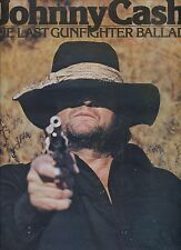 JOHNNY CASH the last gunfighter ballad UK 1977 EX LP