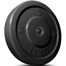 Titan Fitness 45-Pound Olympic Bumper Plate for Strength Training, Free Weights