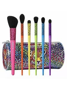 Morphe X Lisa Frank 6 Piece Makeup Eye Brush Set + Cat Bag LIMITED EDITION
