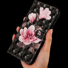 Begonia flower Multi-function Card slot pocket wallet Leather protect case cover