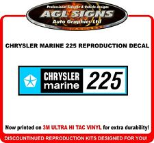 CHRYSLER Marine Reproduction  225 HP Decal
