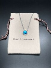DAVID YURMAN Sterling Silver 925 Chatelaine Pendant Necklace With Blue Topaz