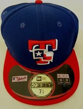 TEXAS RANGERS MLB AUTHENTIC COLLECTION 59FIFTY BLUE & RED CAP SIZE 7 5/8 COOL!