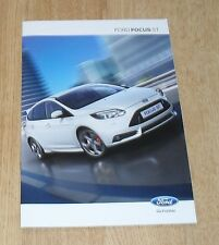 Ford Focus ST Brochure 2012-2013 - ST1 ST2 ST3 - 2.0 Ecoboost 250ps