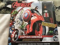 Avengers Captain America 11inch figure and defender cycle figure set