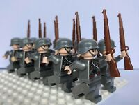 WW2 10 Minifigures -  WWII Soldiers Troops German Russian CUSTOM LEGO