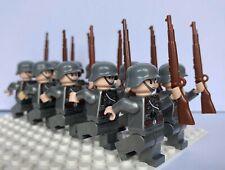 WW2 10 Minifigures -  WWII Soldiers Troops German Russian CUSTOM LEGO