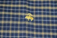 Brooks Brothers 346 Non Iron Mens Blue Yellow Check L/S Dress Button Shirt Sz L