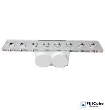 Fiji Cube 8 Holes Magnetic Slim Coral Frag Rack - (White)