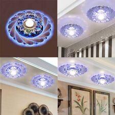 Modern Crystal LED Ceiling Fixture Blue Restaurant Corridor For Chandelier Lamp