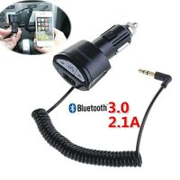 3.5mm AUX Car Bluetooth Receiver Speaker Music Audio Adapter Mic USB Charger