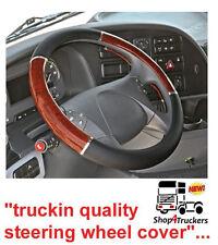 HGV Truck lorry MAN steering wheel cover XL 49cm 51cm black walnut DELUX