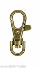 "Metal Swivel Clips Hooks Clasps Lobster end 1.5"" long 39x18mm Pick Colors + Qty"