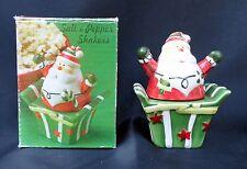 Giftco Santa Claus Gift Present Xmas Salt Pepper Shaker Set Nib Free Usa Ship