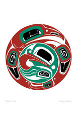 Raven Frog Danny Dennis Art Card Tsimshian Northwest Coast Native