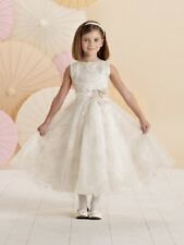 728a1fdc3 NEW Girl's Joan Calabrese IVORY White First COMMUNION Fancy Dress Size 10  214379