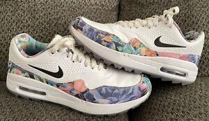 Nike Air Max 1 G NRG Tropical Floral White Women's Golf Shoes 8.5 BV0658-100