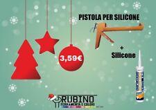 pistola Per Silicone + Silicone Bianco Verniciabile Saratoga