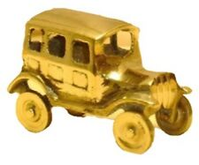 Small Brass Old Fashioned Car Ornament, 7cm Long